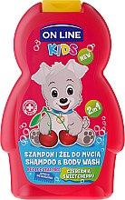"""Parfémy, Parfumerie, kosmetika Sprchový gel a šampon v jednom """"Cherry"""" - On Line Kids Cherry Shampoo & Body Wash"""