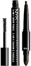 Parfémy, Parfumerie, kosmetika Multifunkční tužka na obočí - NYX Professional Makeup Cosmetics 3-in1 Brow Pencil