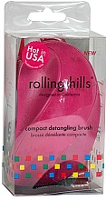 Parfémy, Parfumerie, kosmetika Kompaktní kartáč na vlasy, fuksie - Rolling Hills Compact Detangling Brush Fuschia