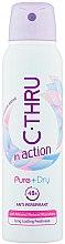 Parfémy, Parfumerie, kosmetika Doodorant - C-Thru In Action Pure + Dry Antyperspirant