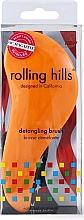 Parfémy, Parfumerie, kosmetika Kartáč na vlasy, oranžový - Rolling Hills Detangling Brush Travel Size Orange