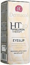Parfémy, Parfumerie, kosmetika Krém na oči a rty s čistou kyselinou hyaluronovou - Dermacol Hyaluron Therapy 3D Eye and Lip Wrinkle Filler Cream