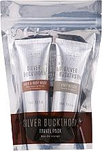 Parfémy, Parfumerie, kosmetika Sada - Scottish Fine Soaps Silver Buckthorn Travel Pack (sham/75ml + f/wash/75ml + b/butter/75ml)