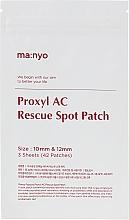 Parfémy, Parfumerie, kosmetika Lokální náplast - Manyo Factory Proxyl AC Rescue Spot Patch