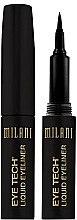Parfémy, Parfumerie, kosmetika Oční linka s plstěnou špičkou - Milani Eye Tech Liquid Eye Liner