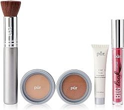 Parfémy, Parfumerie, kosmetika Sada - Pur Minerals Best Sellers Starter Kit Light Tan (primer/10ml+found/4.3g+bronzer/3.4g+mascara/5g+brush)