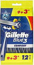 Parfémy, Parfumerie, kosmetika Sada jednorázových holicích strojků, 12 ks - Gillette Blue 3 Comfort
