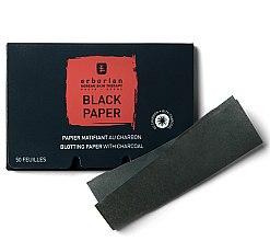 Parfémy, Parfumerie, kosmetika Černé matující ubrousky s uhlím - Erborian Blotting Paper With Charcoal