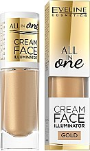 Parfémy, Parfumerie, kosmetika Krémový rozjasňovač - Eveline Cosmetics All In One Cream Face Illuminator