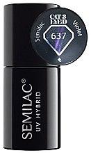 Parfémy, Parfumerie, kosmetika Lak na nehty - Semilac UV Hybrid Cat Eye 3D
