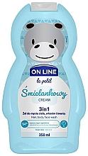 Parfémy, Parfumerie, kosmetika Přípravek na mytí vlasů, těla a obličeje Krém - On Line Le Petit Cream 3 In 1 Hair Body Face Wash