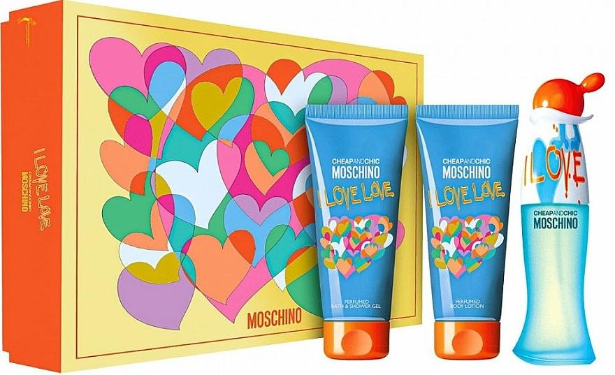 Moschino I Love Love - Sada (edt/50ml + b/lot/100ml + sh/gel/100ml)