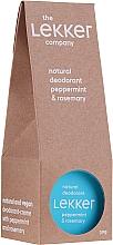 Parfémy, Parfumerie, kosmetika Přírodní deodorant s mátou a rozmarýnem - The Lekker Company Natural Deodorant