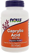 Parfémy, Parfumerie, kosmetika Kyselina kaprylová, 600 mg - Now Foods Caprilyc Acid