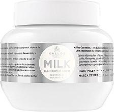 Parfémy, Parfumerie, kosmetika Maska na vlasy s mléčnými bílkovinami - Kallos Cosmetics Hair Mask Milk Protein
