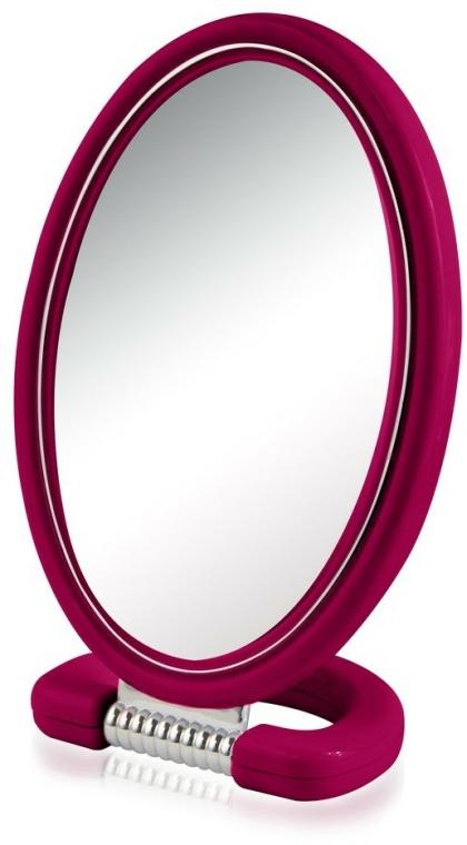 Kosmetické zrcadlo 9510, oválné, oboustranné, 22,5 cm, malinové - Donegal Mirror — foto N1