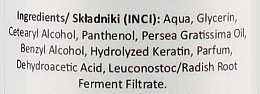 Kondicionér na vlasy s avokádovým olejem a keratinem - Nacomi Natural Avocado Oil And Keratin Hair Conditioner — foto N3