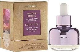 Parfémy, Parfumerie, kosmetika Elixír pro oční okolí - Korres Golden Krocus Ageless Eye Elixir