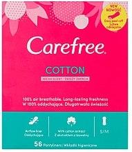 Parfémy, Parfumerie, kosmetika Denní hygienické flexibilní vložky se svěží vůní, 56 ks - Carefree Cotton Fresh