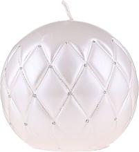 Parfémy, Parfumerie, kosmetika Dekorativní svíčka Laková koule bílá, 10 cm - Artman Florence