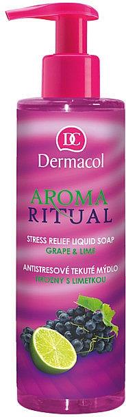"""Tekuté mýdlo """"Hrozny a limetka"""" - Dermacol Aroma Ritual Liquid Soap Grape&Lime — foto N1"""