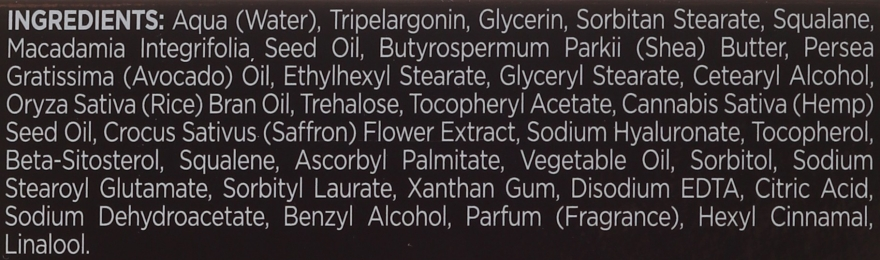 Hydratační krém na obličej - Bielenda Botanic Formula Hemp Oil + Saffron Moisturizing Cream — foto N4