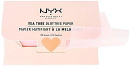 "Parfémy, Parfumerie, kosmetika Ubrousky na obličej ""Tea Tree"" - NYX Professional Makeup Blotting Paper"
