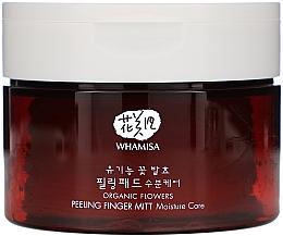 Parfémy, Parfumerie, kosmetika Čisticí pleťové polštářky - Whamisa Organic Flowers Peeling Finger Mitt Moisture Care