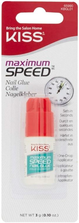 Lepidlo na nehty - Kiss Maximum Speed Nail Glue — foto N1