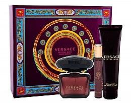 Parfémy, Parfumerie, kosmetika Versace Crystal Noir - Sada (edp/90ml + b/lot/150ml + edt/10ml)