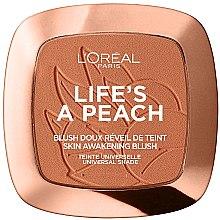 Parfémy, Parfumerie, kosmetika Tvářenka - L'Oreal Paris Life's A Peach Blush