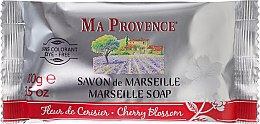 Parfémy, Parfumerie, kosmetika Toaletní mýdlo Třešňový květ - Ma Provence Marseille Soap Cherry Blossom