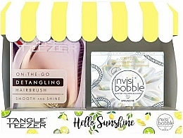 Parfémy, Parfumerie, kosmetika Sada - Tangle Teezer Compact Styler Hello Sunshine Set (brush/1szt + hair/tie/1szt)