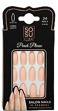 Parfémy, Parfumerie, kosmetika Sada umělých nehtů - Sosu by SJ False Nails Long Stiletto Peach Please