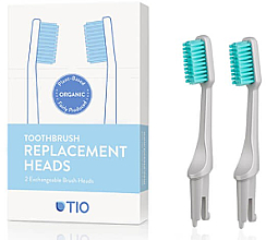 Parfémy, Parfumerie, kosmetika Náhradní hlavice na zubní kartáček, jemná štětina, šedé - TIO Toothbrush Soft