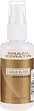 Parfémy, Parfumerie, kosmetika Elixír na vlasy - Brazil Keratin Gold Elixir Repair Treatment