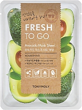 Parfémy, Parfumerie, kosmetika Pleťová látková maska s extraktem z avokáda - Tony Moly Fresh To Go Avocado Mask Sheet Nourishing