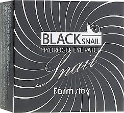 Parfémy, Parfumerie, kosmetika Hydrogelové náplasti pod oči s mucinem černého hlemýždě - FarmStay Black Snail Hydrogel Eye Patch