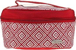 """Parfémy, Parfumerie, kosmetika Kosmetická taška """"Rhombus"""" s geometrickým vzorem, 93784, červená - Top Choice"""