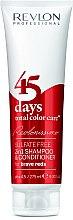 Parfémy, Parfumerie, kosmetika Šampon-kondicionér jasně červený - Revlon Professional Revlonissimo 45 Days Brave Reds