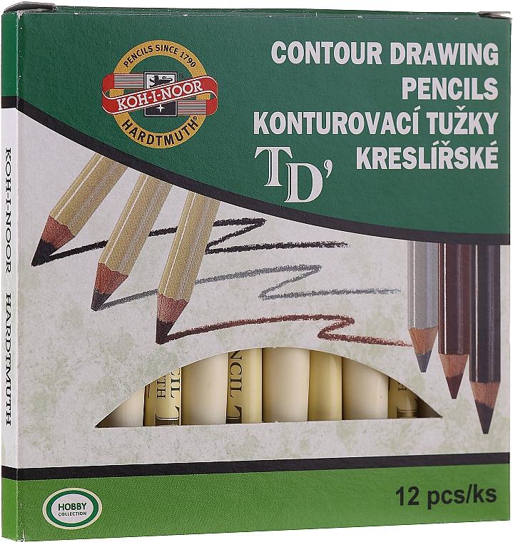 Konturovací tužky na očí a obočí - Koh-I-Noor Contour Drawing Pencils (12ks)