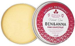 Parfémy, Parfumerie, kosmetika Přírodní krémový deodorant - Ben & Anna Pink Grapefruit Soda Cream Deodorant