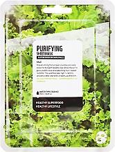 """Parfémy, Parfumerie, kosmetika Textilní maska na obličej """"Kale"""" - Farmskin Superfood For Skin Purifying Sheet Mask"""