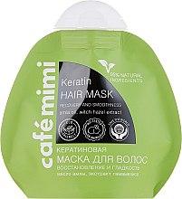 """Parfémy, Parfumerie, kosmetika Keratinová maska na vlasy """"Obnova, lesk a hladkost vlasů"""" - Cafe Mimi Keratin Hair Mask"""