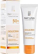 Parfémy, Parfumerie, kosmetika Opalovací krém - Iwostin Solecrin Lucidin Protective Cream SPF 50+