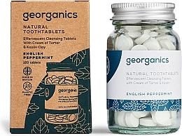 """Parfémy, Parfumerie, kosmetika Tablety pro čištění zubů """"Anglická máta"""" - Georganics Natural Toothtablets English Peppermint"""