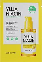 Parfémy, Parfumerie, kosmetika Rozjasňující textilní pleťová maska - Some By Mi Yuja Niacin Blamish Care Serum Mask