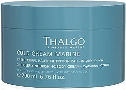 Parfémy, Parfumerie, kosmetika Regenerační bohatý tělový krém - Thalgo Cold Cream Marine Deeply Nourishing Body Cream