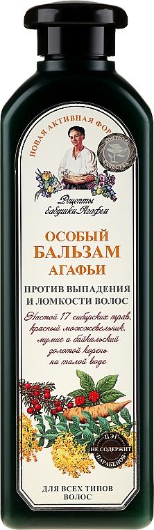 Speciální balzám Agafii Proti vypadávání vlasů a proti křehkým vlasům - Recepty babičky Agafyy