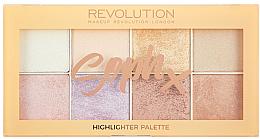 Parfémy, Parfumerie, kosmetika Paleta rozjasňovačů na obličej - Makeup Revolution Soph Highlighter Palette